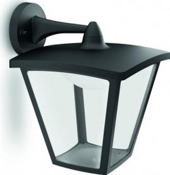 Philips - VENKOVNÍ NÁSTĚNNÉ LED SVÍTIDLO 15481/30/16 černé 2700K