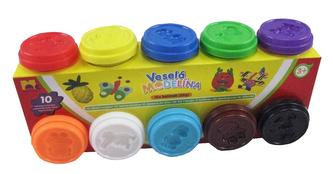 Modelína 10 xc 50g, různé barvy - Kids Toys