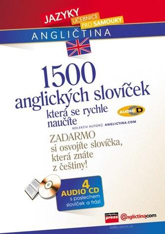 1500 anglických slovíček, která se rychle naučíte + 4 CD