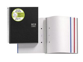 MIQUELRIUS poznámkový blok Journal A4, 90 listů, 70g, linka+čtvereček+čistý, černý