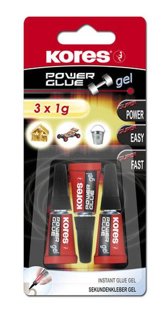 Kores - Kores Power Glue Gel 3 x 1 g