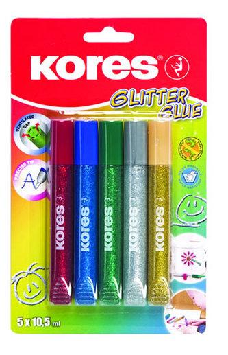 Kores - Kores Glitter glue 5 x 10,5 ml