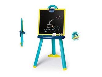 Smoby - Tabule na kreslení 2v1 stojací modrá