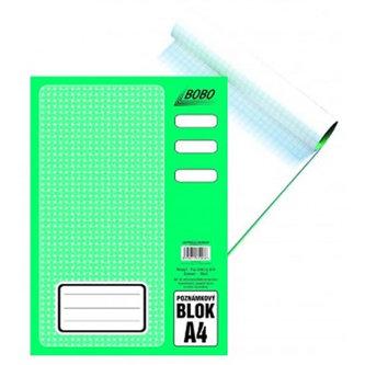 BOBO BLOK - Poznámkový blok A4, čtvereček, 50 listů