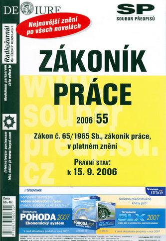 Zákoník práce Právní stav k 15.9.2006