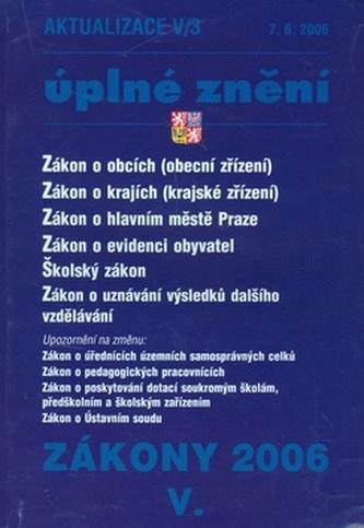 Zákon o obcích 2006 V/3