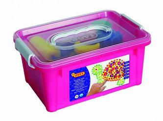 JOVI prstové barvy BOX (6x125ml, 4 šablony, 4 tlačítka na barvy, 1 pěnový váleček, podložka) - Jovi