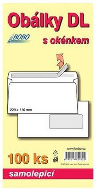 BOBO BLOK - Obálky DL samolepicí s okénkem (bal. 100ks)