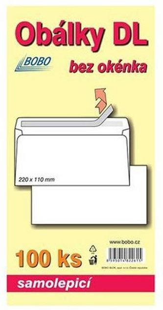 BOBO BLOK - Obálky DL samolepicí (bal. 100ks)