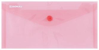 Obálka s drukem průhledná DL PP, červená - Donau