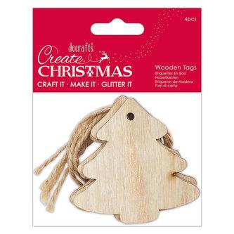 DOCRAFTS - DOCRAFTS dřevěné dekorace - vánoční stormečky 4 ks