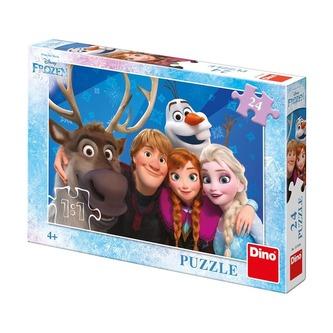 Puzzle Ledové království/Frozen Selfie 24 dílků 26x18cm v krabici 27,5x19x4cm