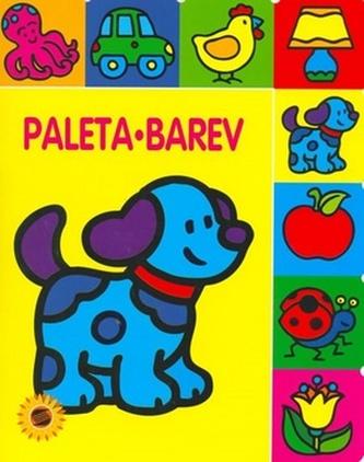 Paleta barev Pejsek - omalovánka