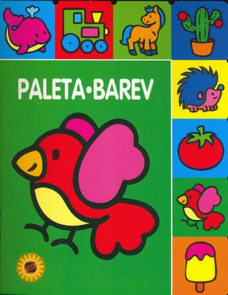 Paleta barev Ptáček - omalovánka