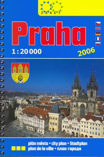 Praha knižní plán 1:20 000