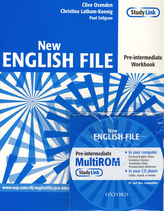 New English file preintermediate Workbook + CD ROM pack
