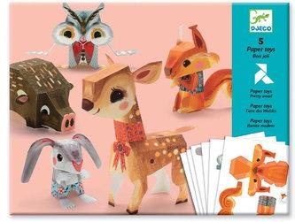 Djeco Origami skládačka Lesní zvířátka - Djeco