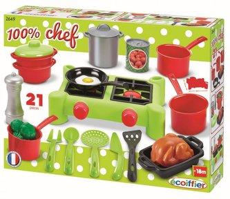 Ecoiffier - Vařič s nádobím velká sada