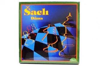 Šachy+dáma+mlýn společenská hra v krabici 22x23x2cm SK verze - Hydrodata