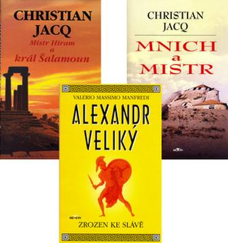 Balíček 3ks Mistra Hiram + Mnich a mistr + Alexandr Veliký