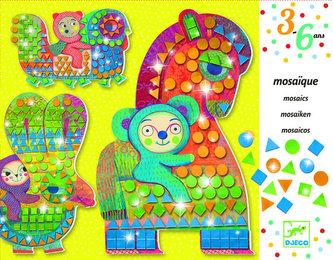 Djeco Výtvarná sada, mozaika - Na koni