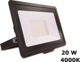 LED Venkovní reflektor L/06014 černý 20W 1700lm 4000K IP65 IK06