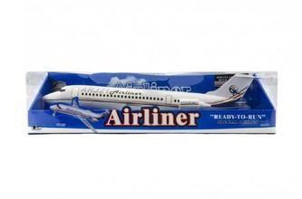 Letadlo na setrvačník plast 40cm na baterie se světlem se zvukem v blistru 44x11x14cm
