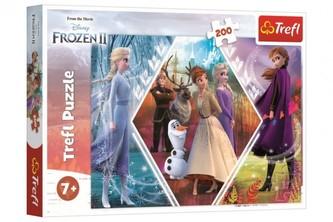 Puzzle Ledové království 2/Frozen 2 48x34cm 200 dílků v krabici 33x23x4cm