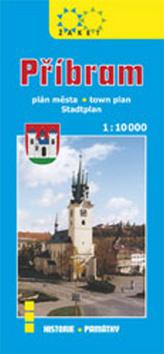 Příbram plán města 1:10 000