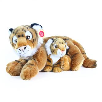 Plyšový tygr s mládětem, 37 cm