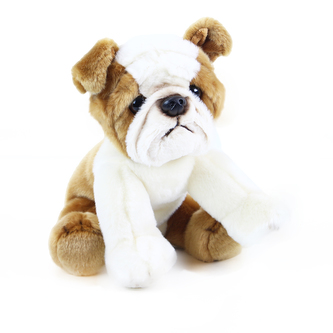plyšový pes buldok, 26 cm