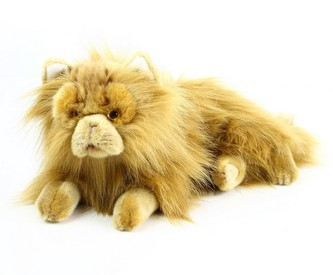 velká plyšová kočka perská ležící, 30 cm