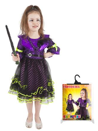 Dětský kostým čarodejnice fialová (L) / Halloween