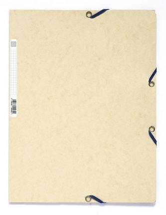 Spisové desky s gumičkou A4 prešpán 400 g/m2 - slonovina