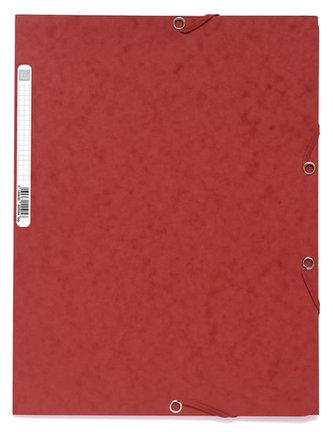 Spisové desky s gumičkou A4 prešpán 400 g/m2 - červené