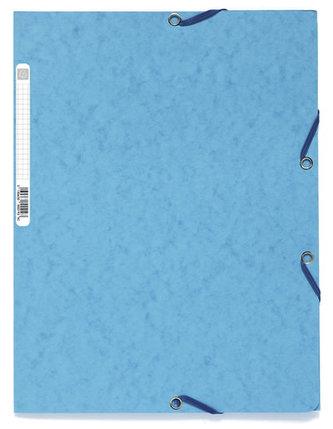 Spisové desky s gumičkou A4 prešpán 400 g/m2 - tyrkysové