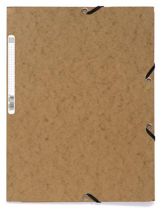 Spisové desky s gumičkou A4 prešpán 400 g/m2 - havana