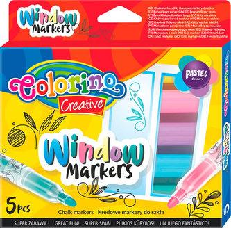 Křídové popisovače na sklo - sada 5 barev