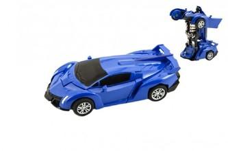 Transformer auto/robot plast 14cm na setrvačník