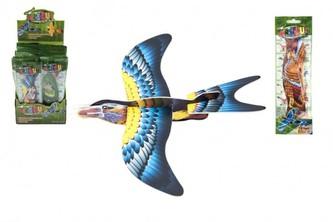 Letadlo házecí skládací pták pěna 18cm mix barev