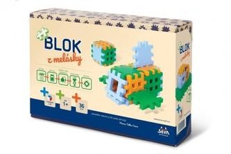 Stavebnice Blok z melásky 36ks v krabici 22x15x6cm 12m+