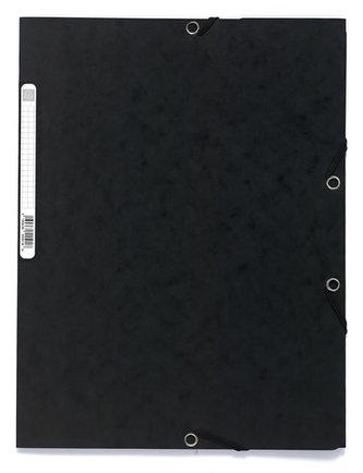 Spisové desky s gumičkou A4 prešpán 400 g/m2 - černé