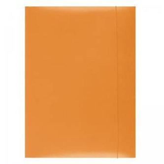 Spisové desky s gumičkou A4 lepenka - oranžové