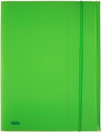 Spisové desky s gumičkou A4 lepenka - zelené