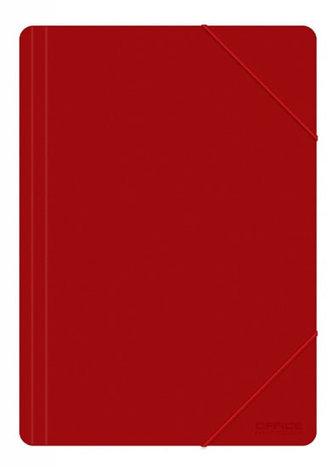 Spisové desky PP s gumičkou A4 500 µm - červená