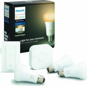 Hue Bluetooth 3x žárovka LED E27 9,5W 806 lm + bridge + switch