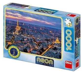 Puzzle Paříž v noci 1000 dílků neon