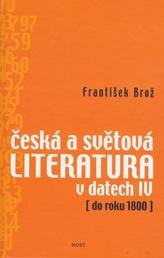 Česká a světová literatura v datech IV