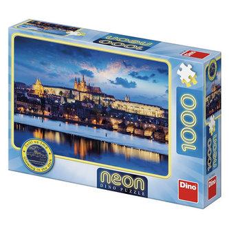 Pražský hrad - Puzzle neonové 1000 dílků
