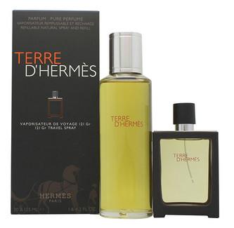 Hermes Terre D´Hermes Pure Perfume Dárková sada parfém 30 ml a náplň Terre D´Hermes Pure Perfume 125 ml